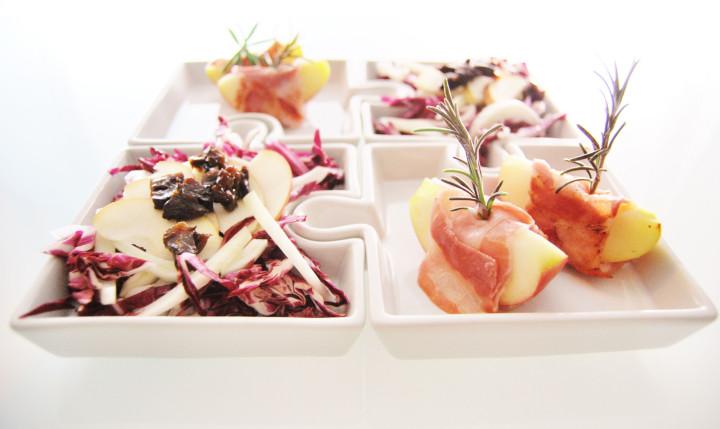 Radicchio, dry prunes & apples appetiser
