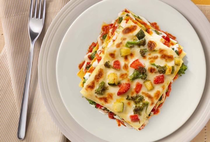Lasagne with summer vegetables