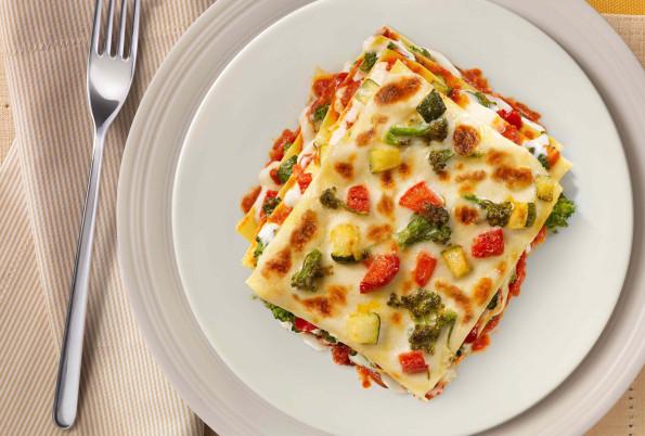 Lasagne with summer vegetables