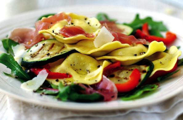 Chicken & Rosemary Ravioli Salad