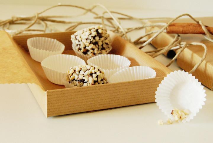 Christmas chocolate-hazelnut-panettone bon bons