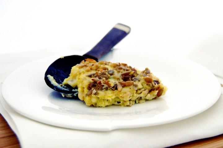 Crunchy potato flan