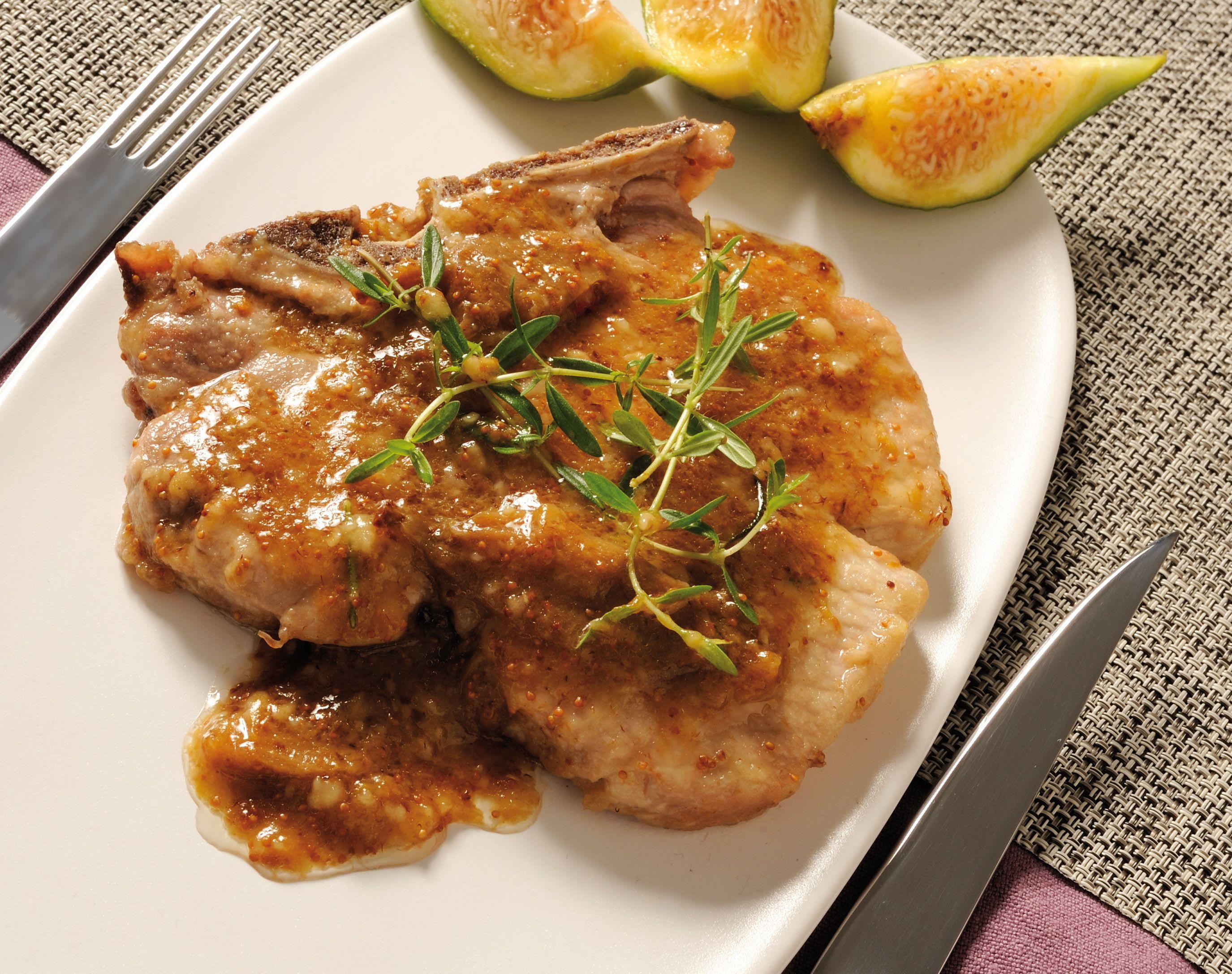 Fig pork chop