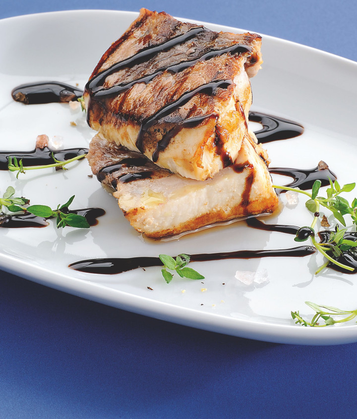 Grilled swordfish with Gastronomic Glaze