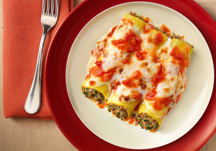 Ham and beef cannelloni