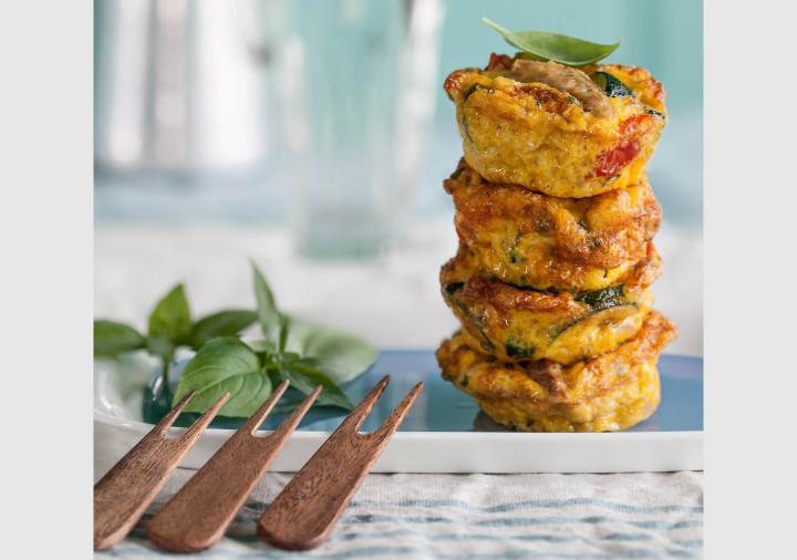 Mackerel omelettes