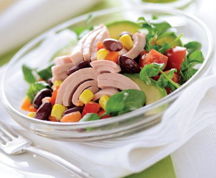 Mexican salad with avocado and watercress