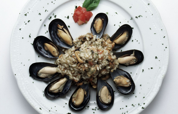 Mussel, tomato and oregano Risotto