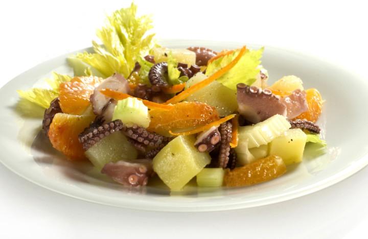 Octopus delicacies with citrus fruit