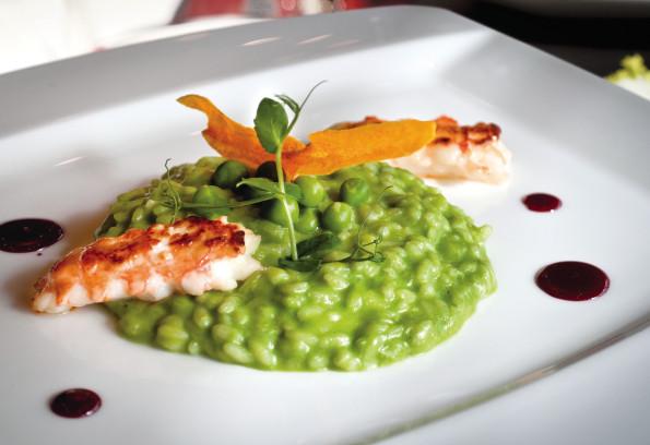 Peas and pesto Risotto