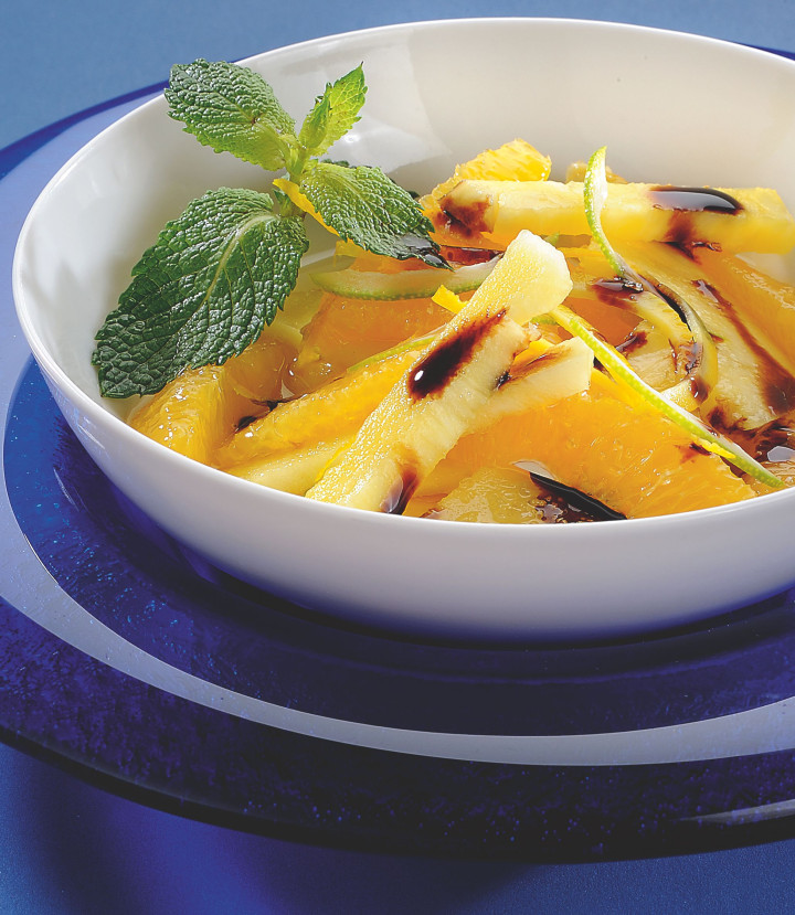 Pineapple & orange with Gastronomic Glaze