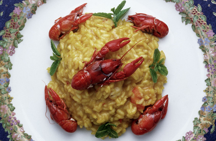 Pumpkin and prawn Risotto