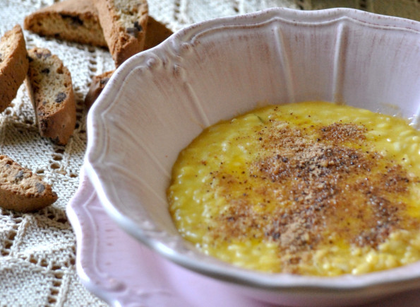 Pumpkin risotto with Cantuccini