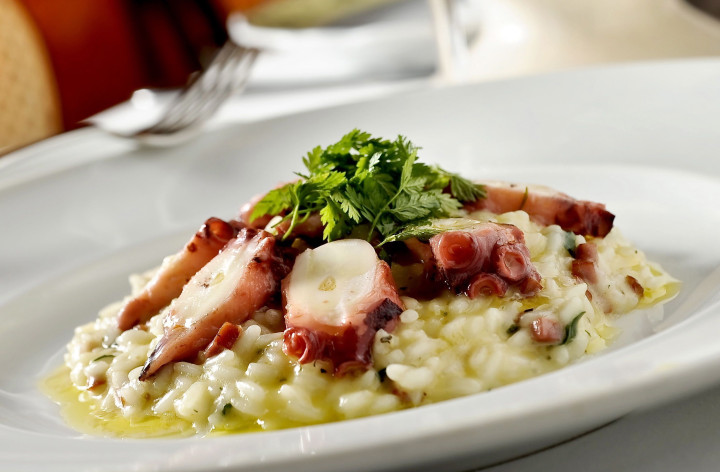 Risotto with octopus