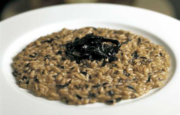 Risotto with wild mushrooms & goat cheese