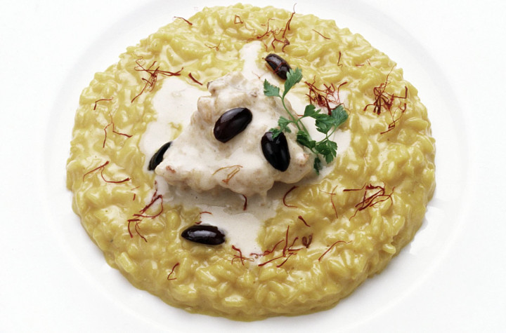 Saffron and salted codfish Risotto