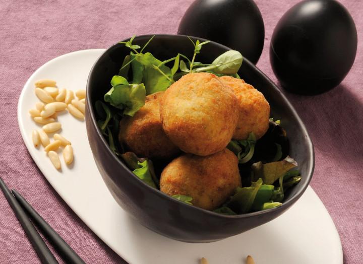 Salted codfish balls