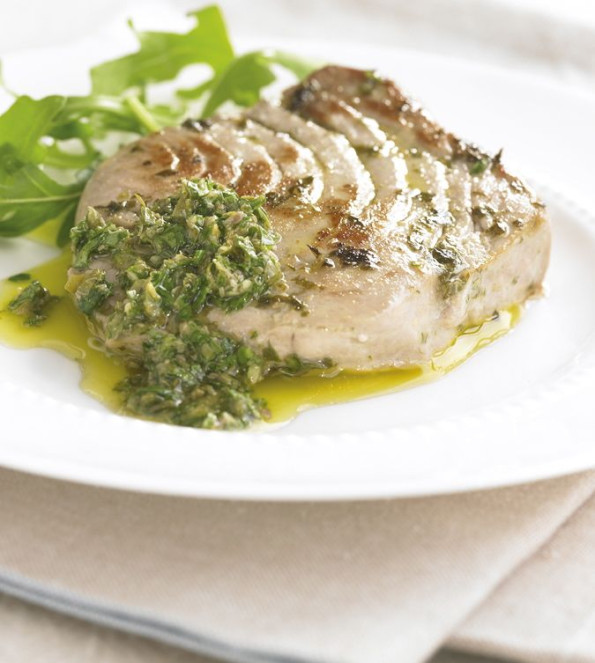 Tuna with Salsa Verde