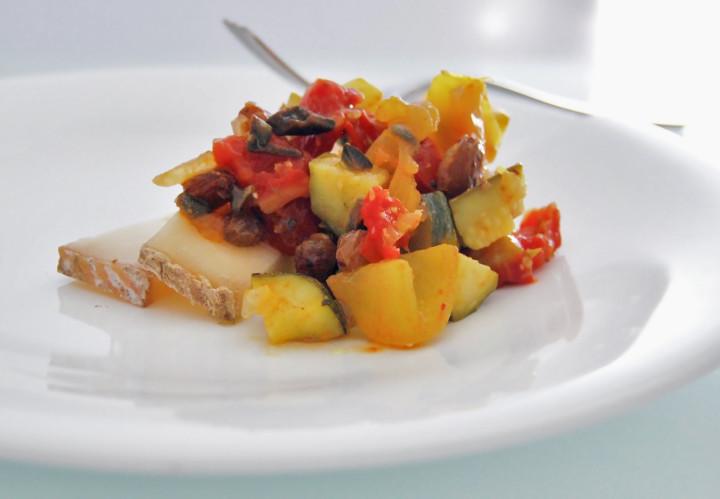 Summer sour zucchini & tomato appetiser