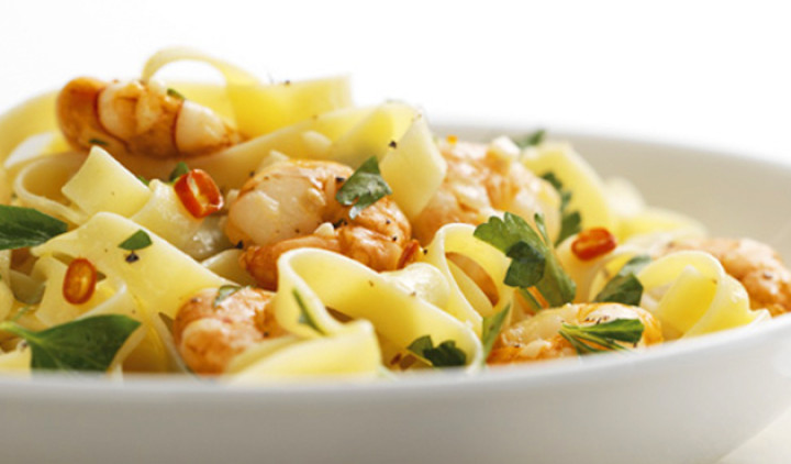 Tagliatelle with Prawns
