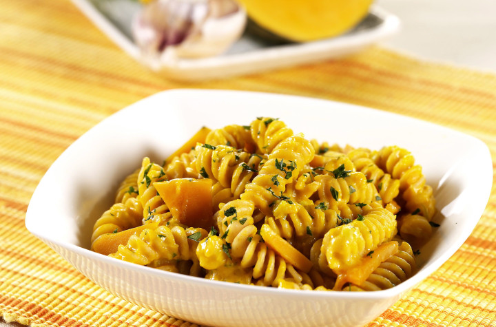 Fusilli with pumpkin sauce