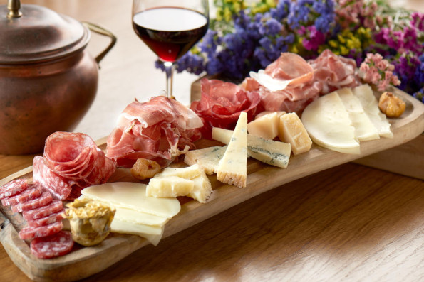 A selection of Italian Cured Meats and Cheeses